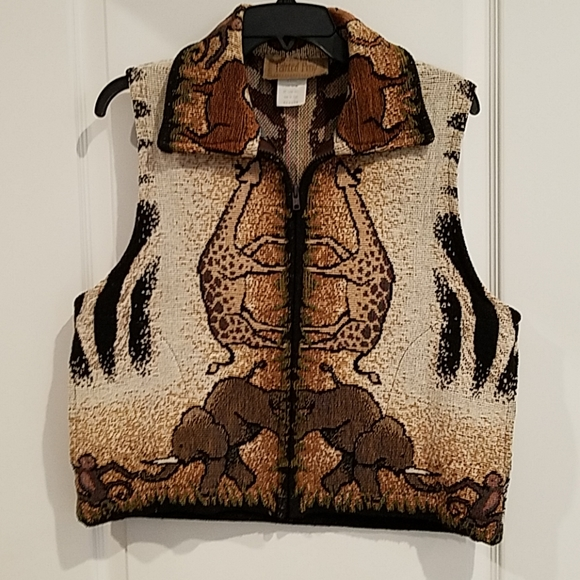 Painted Pony Jackets & Blazers - Painted Pony Animal Print Vest